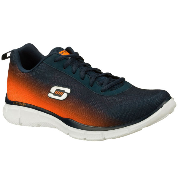 SKECHERS MEN EQUALIZER - THIS WAY Navy/Orange
