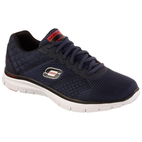 SKECHERS MEN FLEX ADVANTAGE - COVERT ACTIVITY Navy/Red