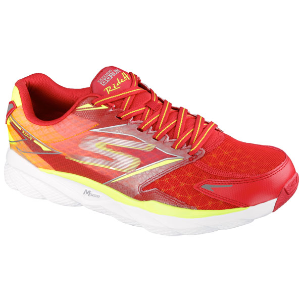 SKECHERS MEN GORUN RIDE 4 Red/Lime