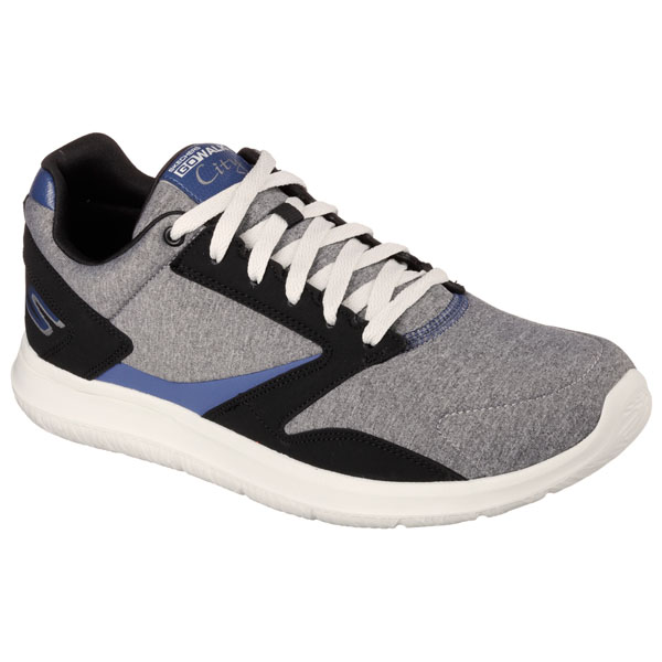 SKECHERS MEN GOWALK CITY - UPTOWN Gray/Black