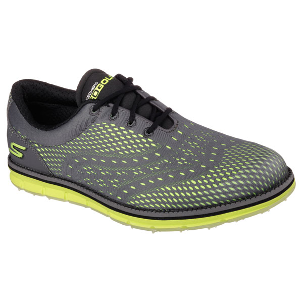 SKECHERS MEN GO GOLF - TOUR Charcoal/Lime