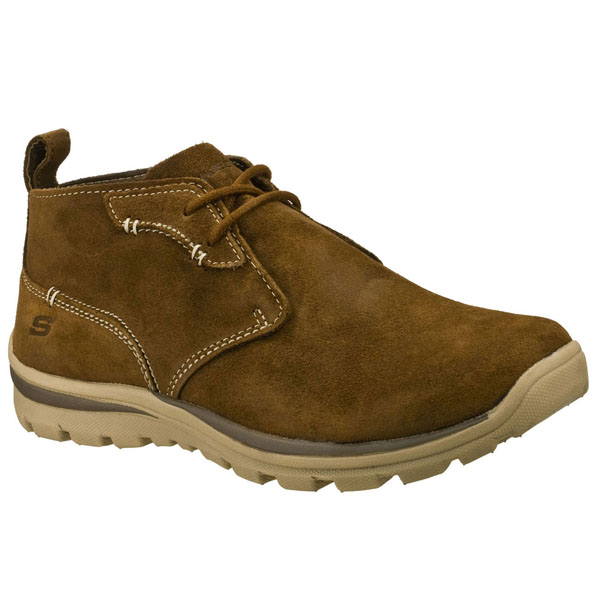 SKECHERS MEN RELAXED FIT: SUPERIOR - UP WORD Desert Brown
