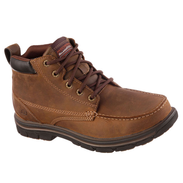 SKECHERS MEN RELAXED FIT: SEGMENT - BARILLO Brown