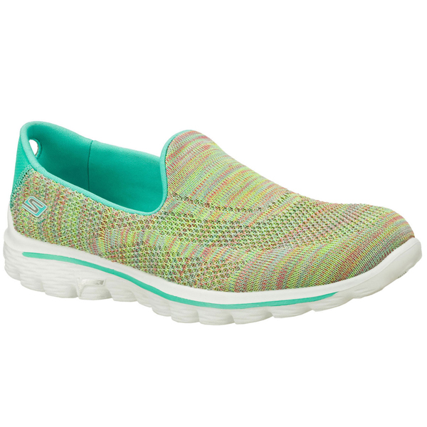 SKECHERS WOMEN GOWALK 2 - HYPO Aqua/Multi