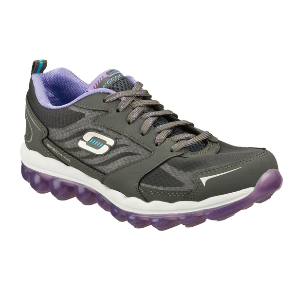 SKECHERS WOMEN SKECH-AIR Charcoal/Purple