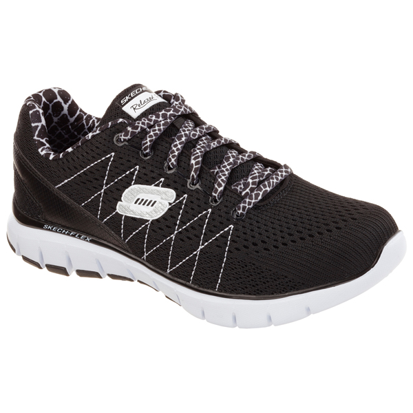 SKECHERS WOMEN RELAXED FIT: SKECH-FLEX Black/White