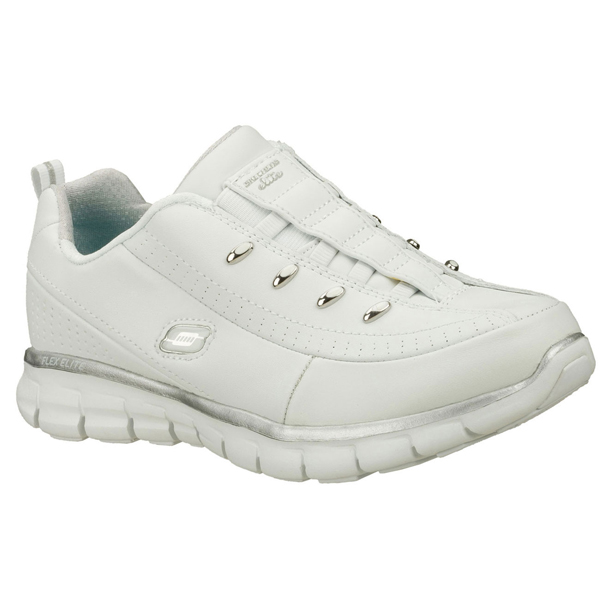 SKECHERS WOMEN SYNERGY - ELITE CLASS White/Silver