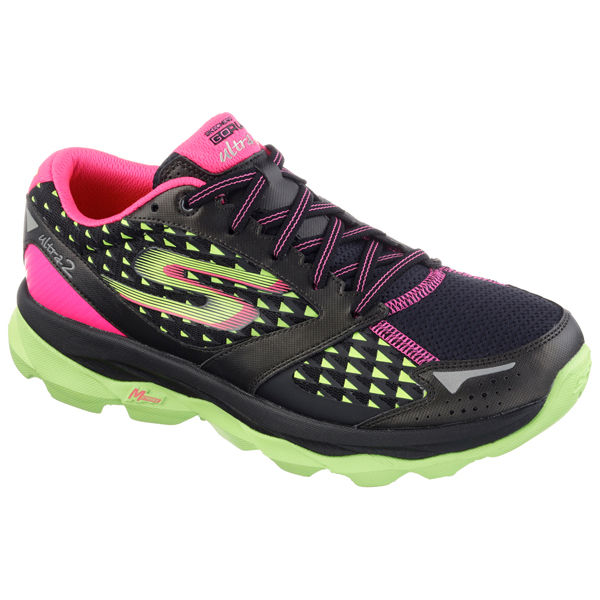 SKECHERS WOMEN GORUN ULTRA 2 Black/Lime
