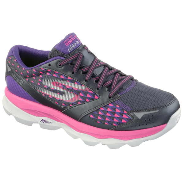 SKECHERS WOMEN GORUN ULT Charcoal/Hot Pink