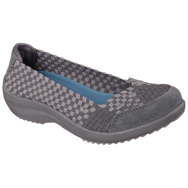 SKECHERS WOMEN RELAXED FIT: SAVOR - JUST WEAVE IT Charcoal