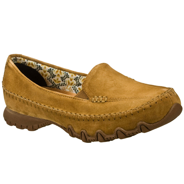 SKECHERS WOMEN RELAXED FIT: BIKERS - PEDESTRIAN Brown