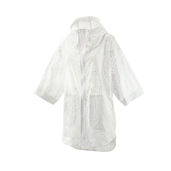 STELLA MCCARTNEY STUDIO IMAGE PRINTED PARKA WHITE