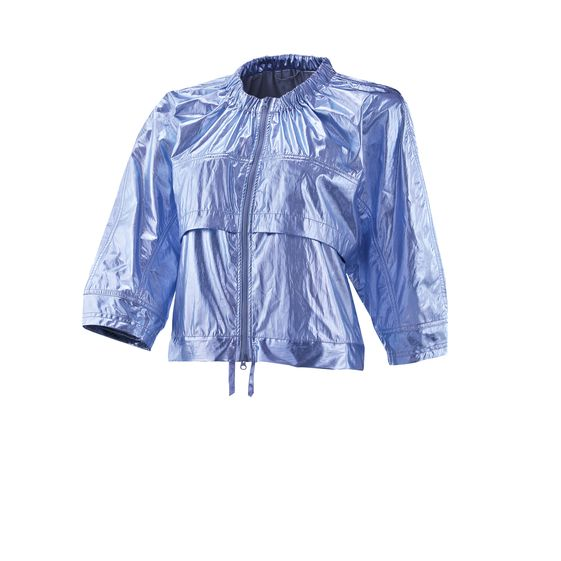 STELLA MCCARTNEY STUDIO METALLIC JACKET CERULEAN