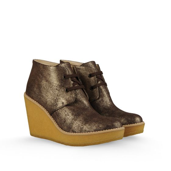 STELLA MCCARTNEY ERIN DESERT WEDGE OLD GOLD