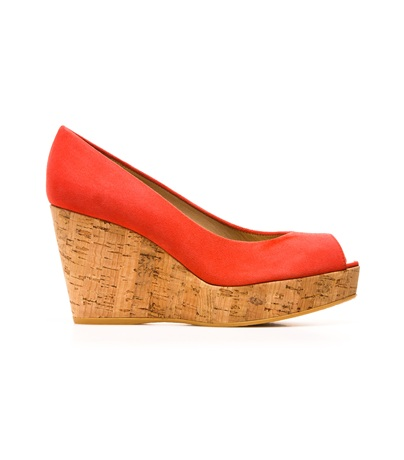STUART WEITZMAN THE ANNA WEDGE Pimento Suede