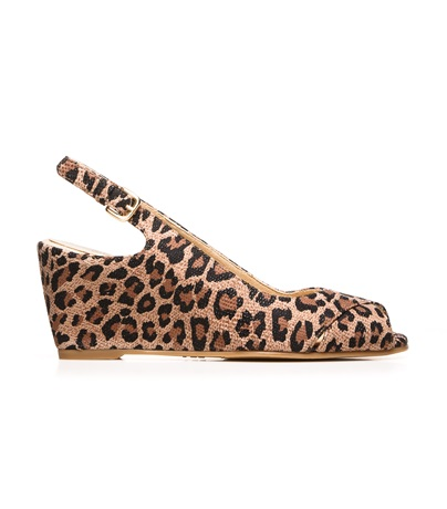 STUART WEITZMAN THE AXIOMMID WEDGE Tan Spotted Leopard
