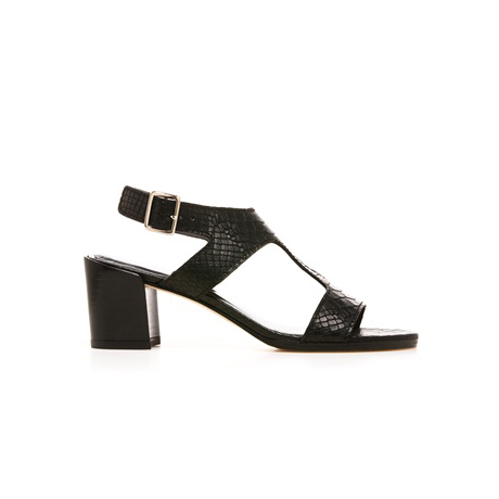 STUART WEITZMAN THE SURETY SANDAL Black King Cobra