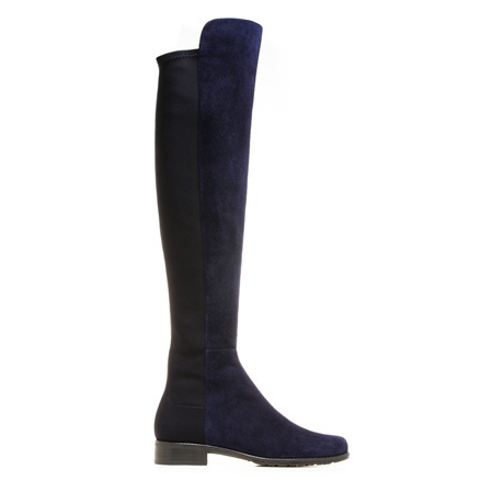 STUART WEITZMAN THE 5050 BOOT Nice Blue Suede