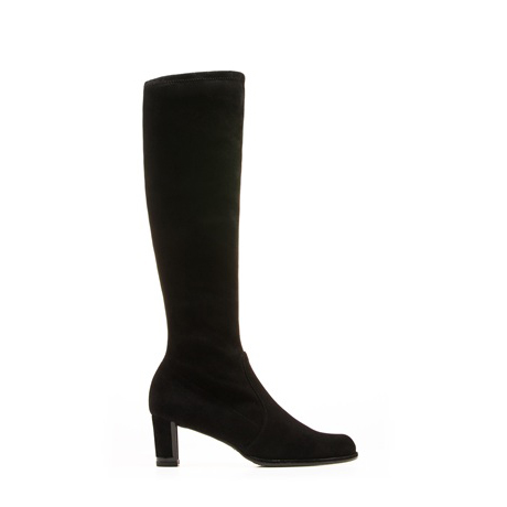 STUART WEITZMAN THE CHICBOOT BOOTIE Black Suede