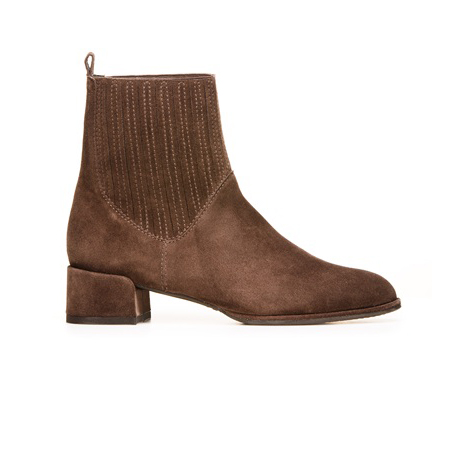 STUART WEITZMAN THE SLASH BOOTIE Seal Velour