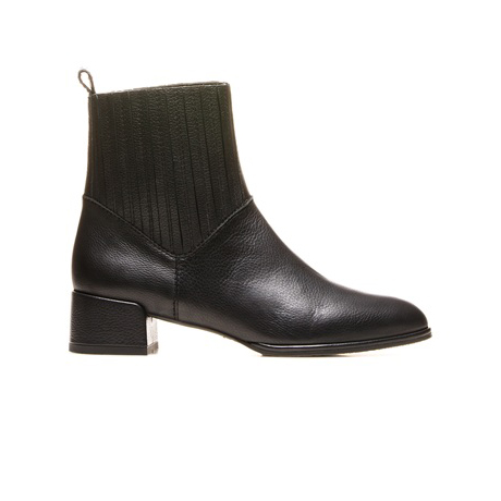 STUART WEITZMAN THE SLASH BOOTIE Nero Old West Calf