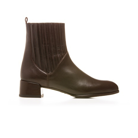 STUART WEITZMAN THE SLASH BOOTIE Walnut Calf