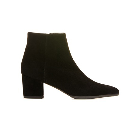 STUART WEITZMAN THE ZEPHER BOOTIE Black Suede