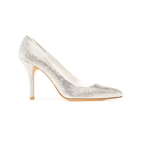 STUART WEITZMAN THE PAVE PUMP White Satin