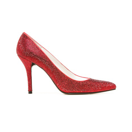 STUART WEITZMAN THE PAVE PUMP Red Satin