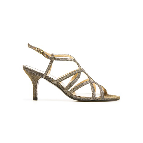 STUART WEITZMAN THE TURNINGUP EVENING SANDAL Pyrite Nocturn