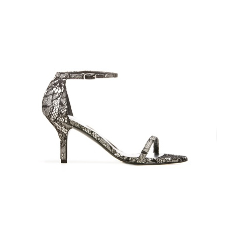 STUART WEITZMAN THE NAKED SANDAL Black Sugar Lace