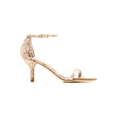 STUART WEITZMAN THE NAKED SANDAL Quartz Sugar Lace