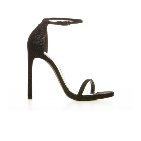 STUART WEITZMAN THE NUDIST2 PUMP Black Goose Bump Nappa
