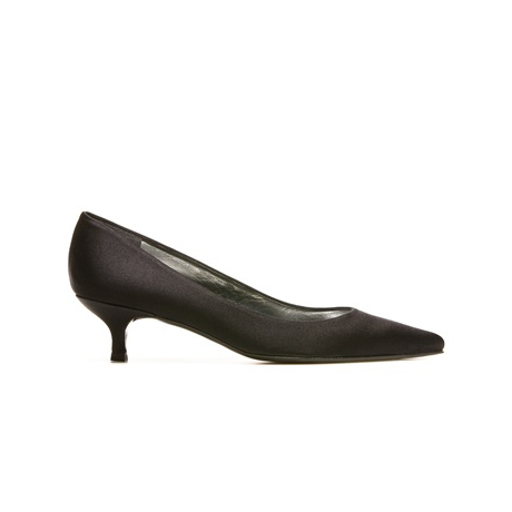 STUART WEITZMAN THE POCO PUMP Black Satin