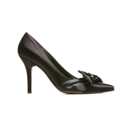 STUART WEITZMAN THE LALA PUMP Black Satin