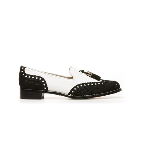 STUART WEITZMAN THE GUYTHING LOAFER Chalk Vecchio Nappa