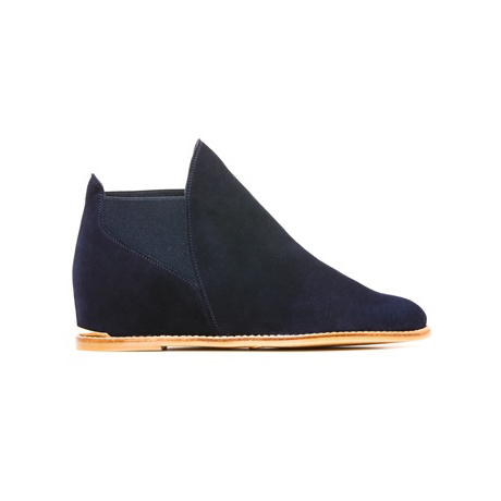STUART WEITZMAN THE GOFIRST FLAT Nice Blue Suede