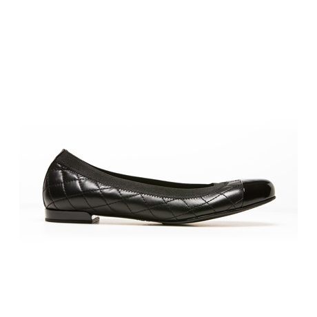 STUART WEITZMAN THE QUILTABLE FLAT Black Nappa