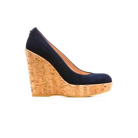 STUART WEITZMAN THE CORKSWOON WEDGE Nice Blue Suede