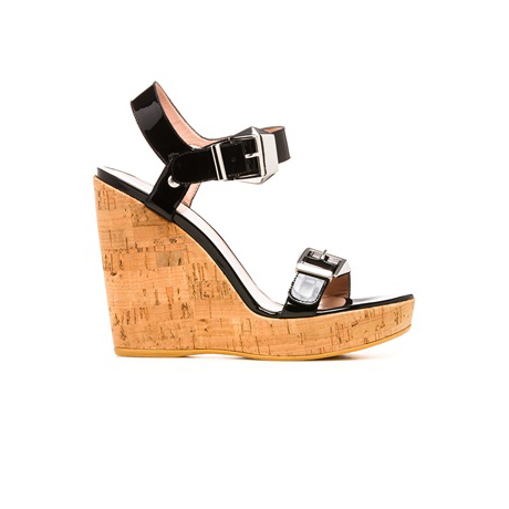 STUART WEITZMAN THE TWOFER WEDGE Black Patent