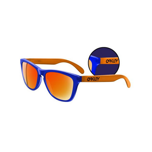 Oakley Frogskins Collectors Editions Blacklight Blue Orange Fire Iridium Sunglasses