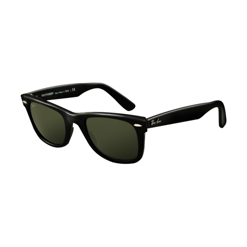 Ray Ban RB2140 Wayfarer Sunglasses Black Frame Crystal Green Len