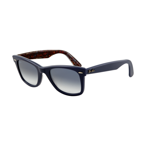 Ray Ban RB2140 Wayfarer Sunglasses Top Texture on Blue Frame Cry
