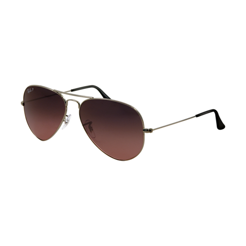 Ray Ban RB3025 Aviator Sunglasses Arista Frame Crystal Wine Red