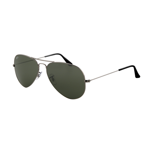 Ray Ban RB3025 Aviator Sunglasses Gunmetal Frame Crystal Deep Gr