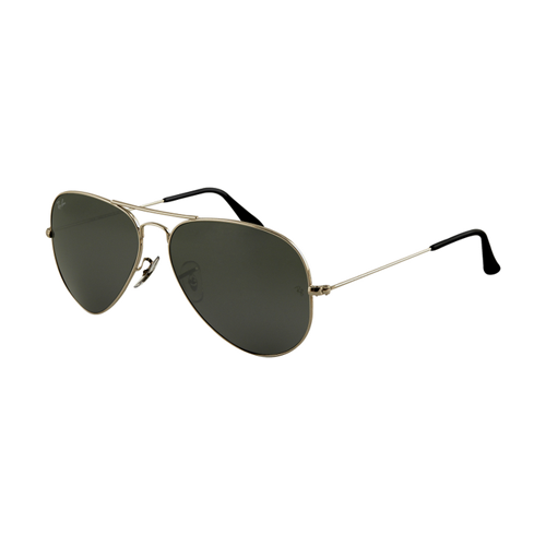 Ray Ban RB3025 Aviator Sunglasses Gunmetal Frame Deep Green Pola