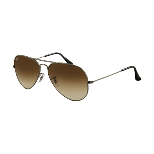 Ray Ban RB3025 Aviator Sunglasses Gunmetal Frame Crystal Brown G