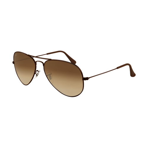 Ray Ban RB3025 Aviator Sunglasses Brown Frame Crystal Brown Grad
