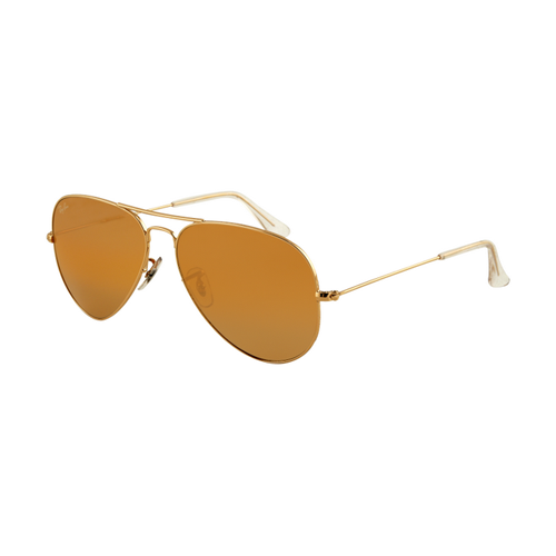Ray Ban RB3025 Aviator Sunglasses Gold Frame Crystal Honey Lens