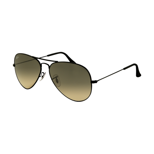 Ray Ban RB3025 Aviator Sunglasses Black Frame Black Crystal Pola